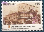 Stamps : Asia : Philippines :  125 aniv. Fábrica de Cervezas San Miguel