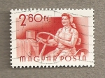 Stamps Hungary -  Conductora tactor