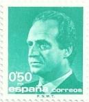 Stamps Spain -  SERIE BÁSICA JUAN CARLOS I. IIa SERIE. VALOR FACIAL 0.50 Pts. EDIFIL 3002