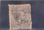 Stamps : America : Cuba :  Alfonso XIII (pelon)