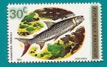 Stamps Africa - Rwanda -  Peces - Hydrocyon - Pez Tigre