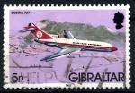 Sellos del Mundo : Europa : Gibraltar :  GIBRALTAR_SCOTT 420 BOING 727. $0,2