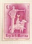 Stamps Europe - San Marino -  Juegos medievales. Columna del sarraceno.