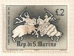 Stamps San Marino -  Juegos medievales. Caballeros franceses,