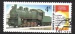 Stamps Russia -  Locomotoras a vapor - Monumentos
