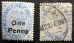 Stamps Europe - Malta -  ONE PENNY 1885
