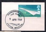 Sellos de Europa - Ucrania -  Inglaterra 1969 KONKORD PRIMER VUELO