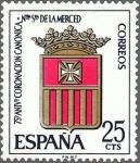 Stamps Spain -  ESPAÑA 1963 1521 Sello Nuevo Coronación Ntra. Sra. De la Merced Escudo de la Orden c/señal charnela