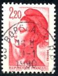 sellos de Europa - Francia -  FRANCIA_SCOTT 1884.04 LIBERTAD INSPIRADA EN DELACROIX. $0,2