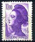 sellos de Europa - Francia -  FRANCIA_SCOTT 1890.01 LIBERTAD INSPIRADA EN DELACROIX. $0,2