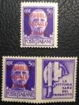 Sellos de Europa - Italia -  1944 Stamps of 1929 Carmine Overprinted