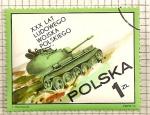 Stamps Poland -  30 Aniversario, ejercito popular. Carro de combate.
