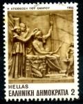 Sellos del Mundo : Europa : Grecia :  GRECIA_SCOTT 1472 LA DEIFICACION DE HOMERO. $0.2