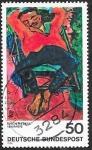 Sellos del Mundo : Europa : Alemania :  666 - Pintura de Erich Heckel