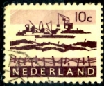 Stamps : Europe : Netherlands :  HOLANDA_SCOTT 403 DRAGANDO EL DELTA. $0.2