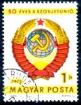 Stamps : Europe : Hungary :  HUNGRIA_SCOTT 2205 50º ANIV UNION SOVIETICA. $0,2