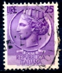Stamps : Europe : Italy :  ITALIA_SCOTT 630 ITALIA SEGÚN MONEDA SIRACUSA. $0,2