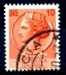 Stamps : Europe : Italy :  ITALIA_SCOTT 676 ITALIA SEGÚN MONEDA SIRACUSA. $0,2