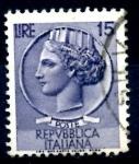 Stamps : Europe : Italy :  ITALIA_SCOTT 679 ITALIA SEGÚN MONEDA SIRACUSA. $0,2