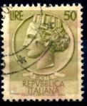 Sellos del Mundo : Europa : Italia : ITALIA_SCOTT 683.01 ITALIA SEGÚN MONEDA SIRACUSA. $0,2
