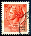 Sellos del Mundo : Europa : Italia : ITALIA_SCOTT 998D ITALIA SEGÚN MONEDA SIRACUSA. $0,2