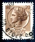 Sellos del Mundo : Europa : Italia : ITALIA_SCOTT 998F ITALIA SEGÚN MONEDA SIRACUSA. $0,2
