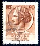 Sellos del Mundo : Europa : Italia : ITALIA_SCOTT 998O.01 ITALIA SEGÚN MONEDA SIRACUSA. $0,2