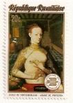 Stamps Rwanda -  Exhibicion filatelica Internacional  INTERNABA 74  (Basilea  1974) Diana de Poitiers.