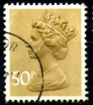Sellos del Mundo : Europa : Reino_Unido : REINO UNIDO_SCOTT MH159 REINA ISABEL. $0.35