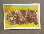 Stamps Africa - Equatorial Guinea -  Gatos europeos