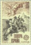 Stamps Spain -  EUROPA - HISTORIA POSTAL