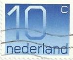 Sellos del Mundo : Europa : Holanda : CENTENARIO DEL SELLO HOLANDÉS CON CIFRAS. VALOR FACIAL 10 Cts. YVERT NL 1042