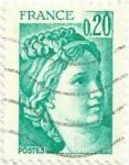 Sellos del Mundo : Europa : Francia : SERIE SABINE DE GANDON. VALOR FACIAL 0.20 FF. YVERT FR 1967
