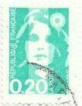 Sellos del Mundo : Europa : Francia : SERIE MARIANNE DE BRIAT. VALOR FACIAL 0.20 FF. YVERT FR 2618