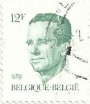 Sellos del Mundo : Europa : Bélgica : SERIE REY BALDUINO TIPO VELGHE. VALOR FACIAL 12 BEF. YVERT BE 2122