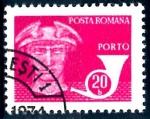 Sellos del Mundo : Europa : Rumania : RUMANIA_SCOTT J135 PALOMAS EN CABEZA DE MERCURIO, Y CUERNO. $0.2
