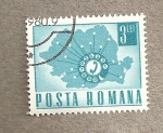 Stamps Europe - Romania -  Mapa telefónico