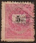 de Europa - Hungría -  Carta sobre Corona. Magyar Kir.Posta  1881  5 koronas