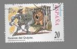 Sellos del Mundo : Europa : España : escenas del quijote