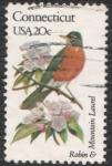 sellos de America - Estados Unidos -  Robin & Mountain laurel