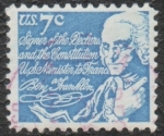 Sellos de America - Estados Unidos -  Benj Franklin
