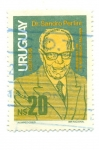 Sellos de America - Uruguay -  DR. SANDRO PERTINI