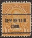 Sellos del Mundo : America : Estados_Unidos : James Monroe  1922  10 centavos 11x10