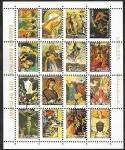 Sellos del Mundo : Asia : Emiratos_Árabes_Unidos : Ajman - Pinturas famosas: La vida de Cristo