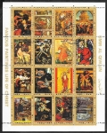 Stamps : Asia : United_Arab_Emirates :  Umm Al Qiwain - Pinturas famosas: La vida de Cristo