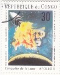 Stamps : Africa : Republic_of_the_Congo :  AERONAUTICA-CONQUISTA DE LA LUNA