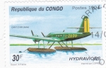 Sellos del Mundo : Africa : República_del_Congo : HIDROAVIÓN