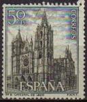 Sellos de Europa - España -  ESPAÑA 1964 1542 Sello Serie Turistica Paisajes y Monumentos Catedral de León Usado