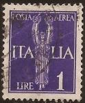 Sellos de Europa - Italia -  Victoria alada  1930  1 lira aereo