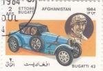 Sellos del Mundo : Asia : Afganistán : COCHE DE EPOCA- BUGATTI